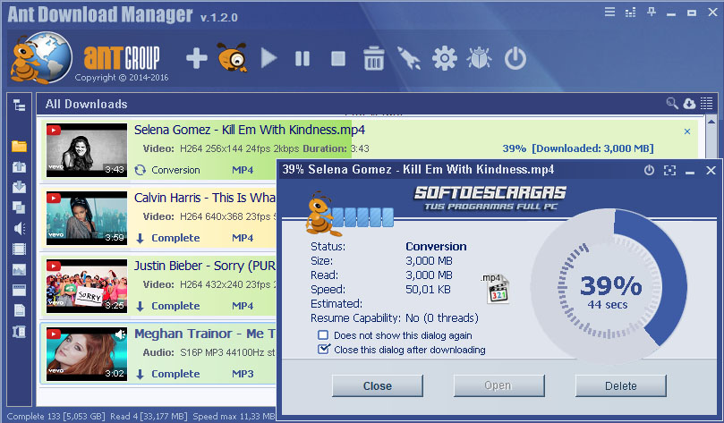 Ant Download Manager Pro (AntDM)